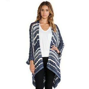 Chaser Blue Knit Oversized Kimono Cardigan